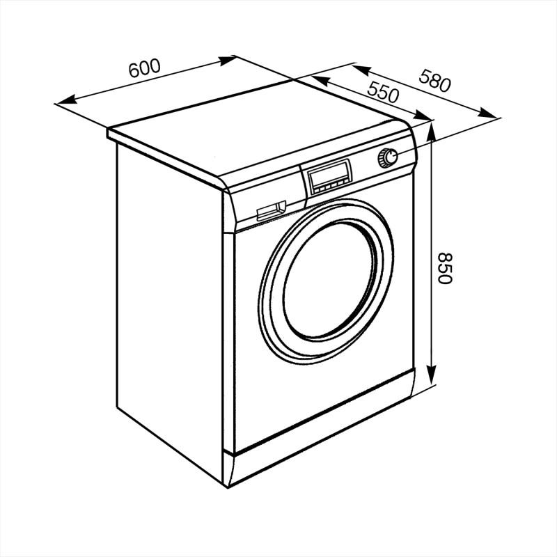 Отдельностоящая стиральная машина Smeg SLB127-2