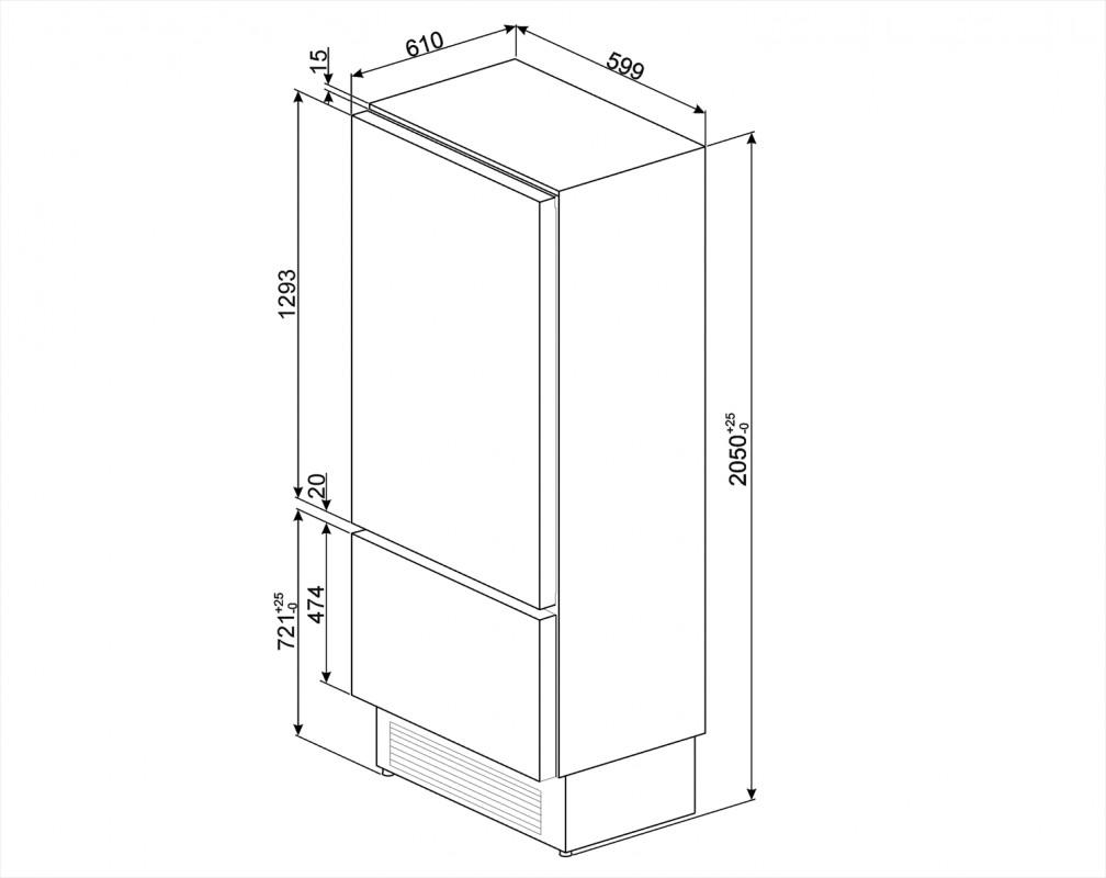 Винный холодильник встраиваемый Smeg WI66LS