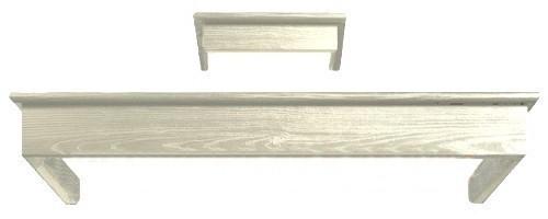 деревянная рамка для вытяжки Smeg KCL900PO (бук окрашенный,кремовый)