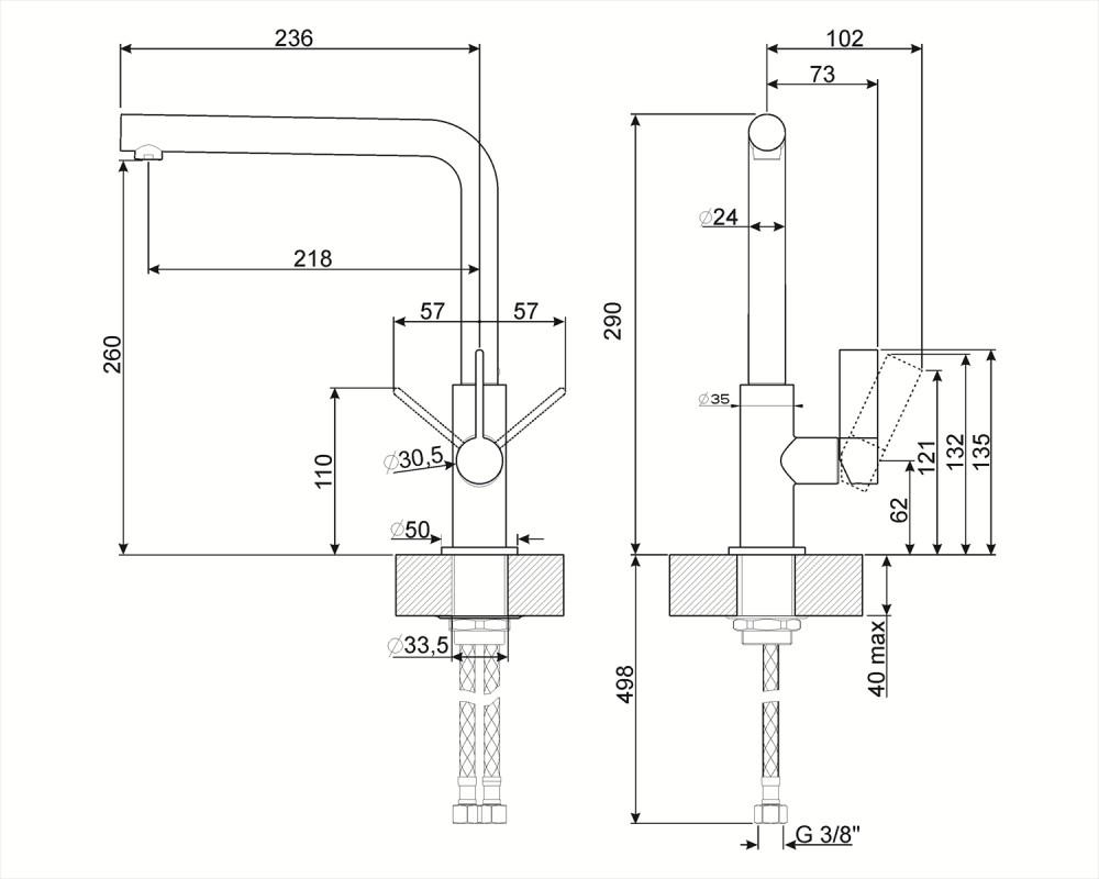 Смеситель Smeg MF22CR2