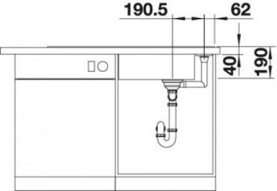 Мойка BLANCO AXIA III XL 6 S кофе, разделочный столик ясень c кл.-авт. InFino®