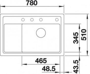Мойка BLANCO ZENAR XL 6S Compact жемчужный чаша справа, доска стекло c кл.-авт. InFino®