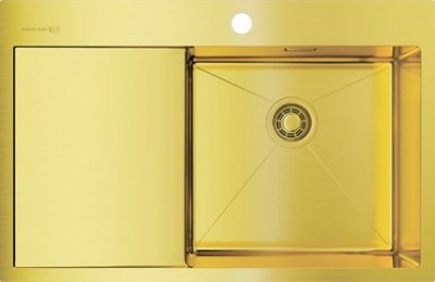 Мойка OMOIKIRI Akisame 78-LG-R светлое золото