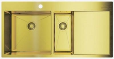 Мойка OMOIKIRI Akisame 100-2-LG-L светлое золото