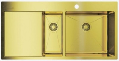 Мойка OMOIKIRI Akisame 100-2-LG-R светлое золото